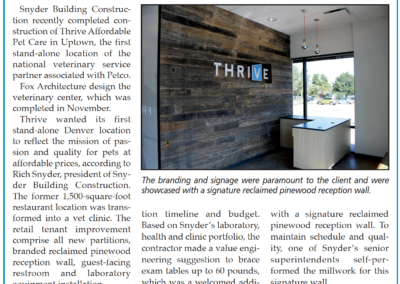 Snyder Building Construction Completes THRIVE in Uptown