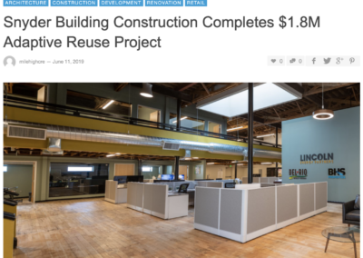 Snyder Building Construction Completes $1.8M Adaptive Reuse Project