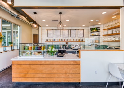 The Green Collective Eatery Counter - Built by Snyder Building Construction - Photo by Rosy Heart Photo