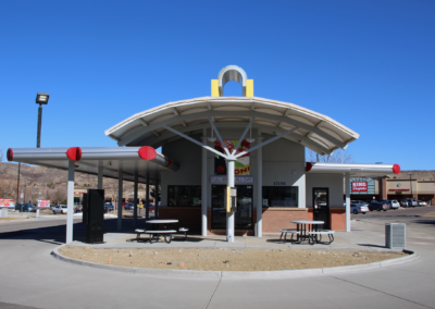 View of the Front of Sonic Drive-In Location in Golden Colorado