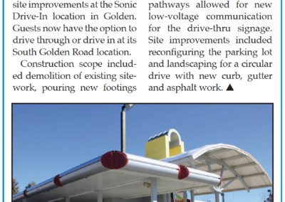 """""""Snyder Building Construction Completes Sonic Drive-Thru"""" - 2021.05.05 Edition Page 2AA"""