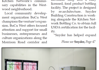 """""""Snyder nears completion of food incubator bottling facility"""" - 2021.06.06 Page 37"""