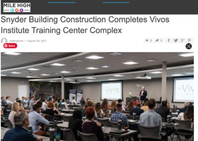 Snyder Building Construction Vivos Training Facility